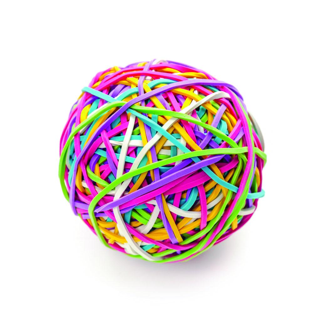 78651337 - rubber band ball